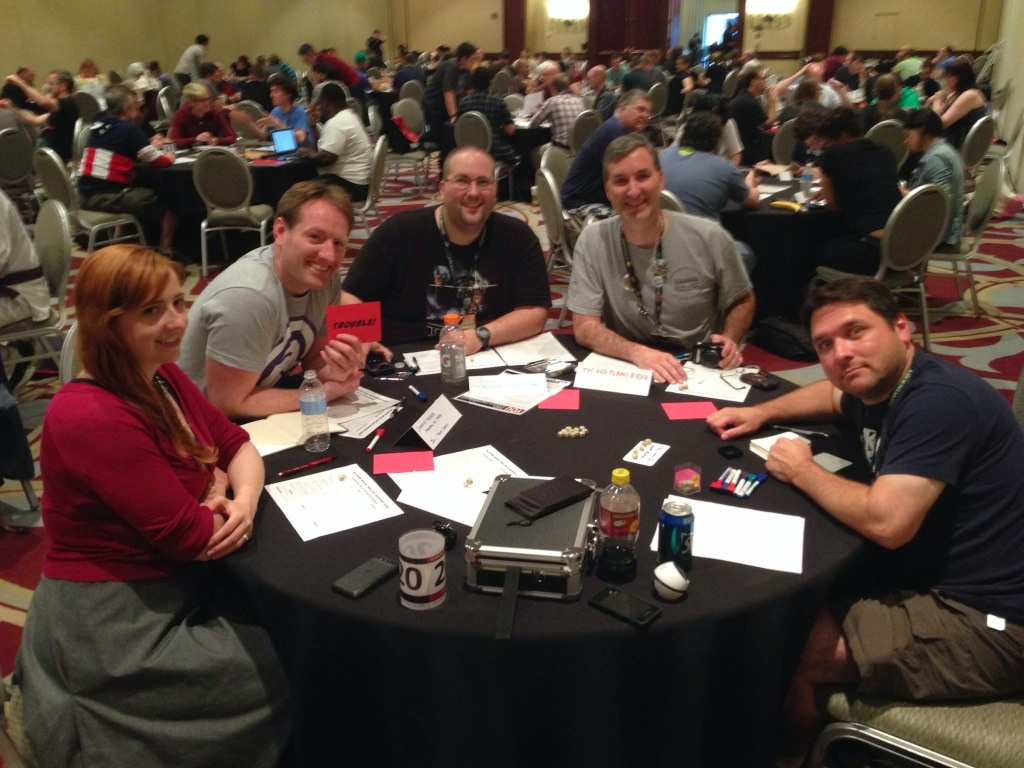 Left to Right: Cactoid Jim, Sparks Nevada, Croach the Tracker, The Red Plains Rider, and our Narrator.